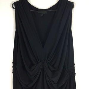 Lane Bryant Solid Black V Neck Maxi Dress 26/28